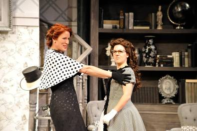 Harvey, 2016, Chemainus Theatre Festival. Set by Brian Ball, Lighting by Nicole Lamb, Costumes by Michelle Leiffertz. Featured: Erin Ormond and Ella Simon.