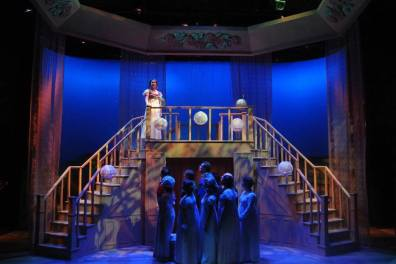 Pride and Prejudice, 2017, Chemainus Theatre Festival. Set by Brian Ball, Lighting by John Webber, Costumes by Crystal Hanson. Featured: Yoshie Bancroft and Ensemble.